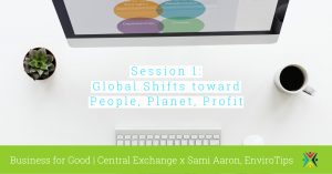 Session 1 of 3: Global Shifts toward People, Planet, Profit [Business for Good] @ Central Exchange | Kansas City | Missouri | United States